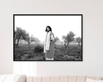 Come Follow Me- Modern Christian Decor, Horizontal Black & White