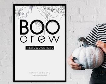 Halloween Decor- Boo Crew Headquarters Poster