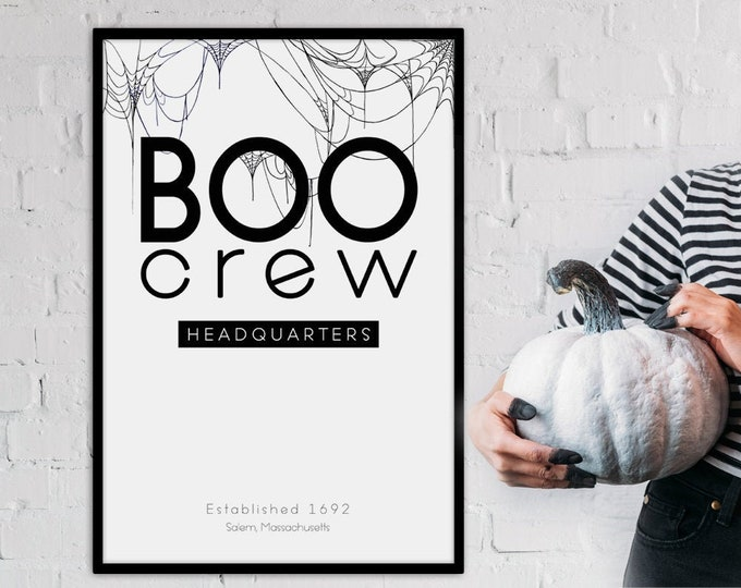 Halloween Decor- Boo Crew Headquarters Poster