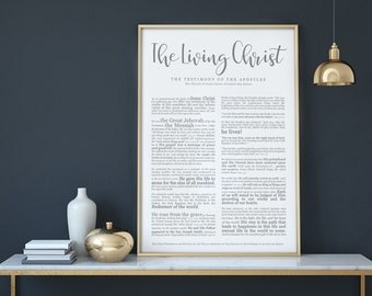 The Living Christ Print- on Premium Paper- Modern Emphasized- LDS