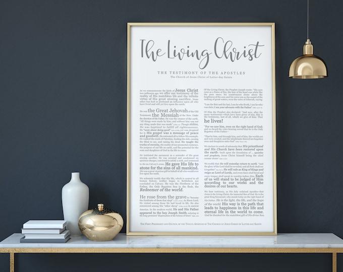 The Living Christ Print- on Premium Paper- Modern Emphasized- LDS