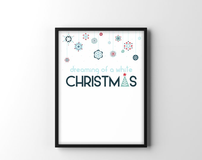 White Christmas- Scandinavian Style Christmas Print