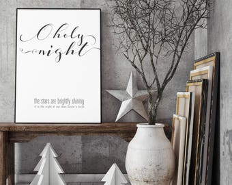 O Holy Night- Modern Christmas Decor Print