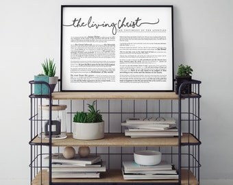 Horizontal Living Christ Print- on Premium Paper- Cursive- LDS