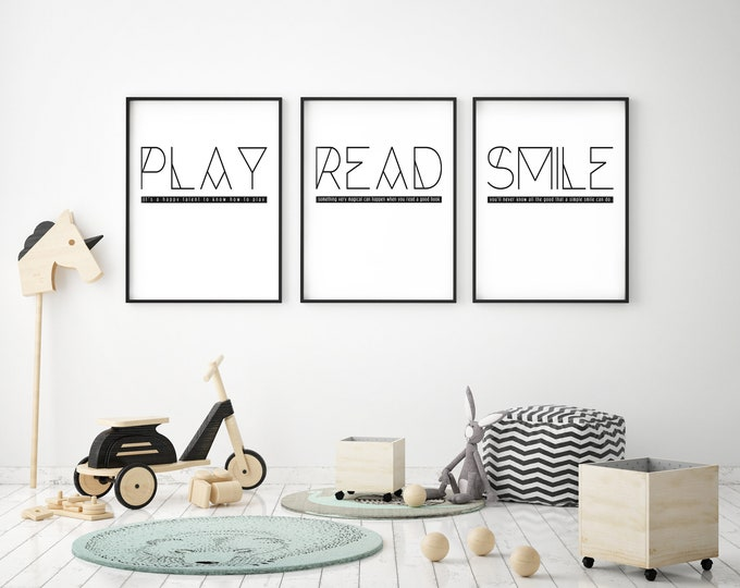 READ- Modern Home Decor Print- Black and White
