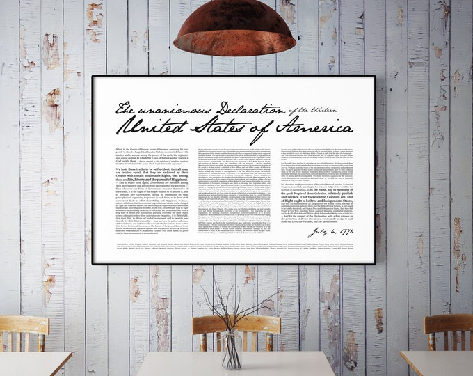 Declaration of Independence- Print