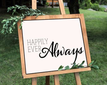 Happily Ever Always- Horizontal Print, Various Sizes