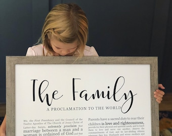 Family Proclamation Print- on Premium Paper- Modern Emphasized- LDS