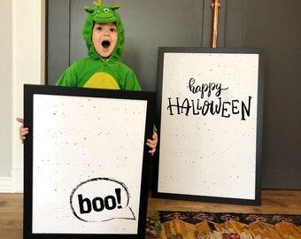 BOO- Modern Halloween Premium Print