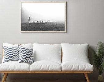 Jesus Christ the Good Shepherd- Gorgeous Modern Print- Horizontal