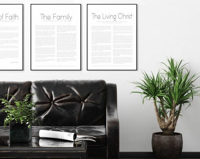 The Living Christ Print- High Quality Print- Minimalist Design
