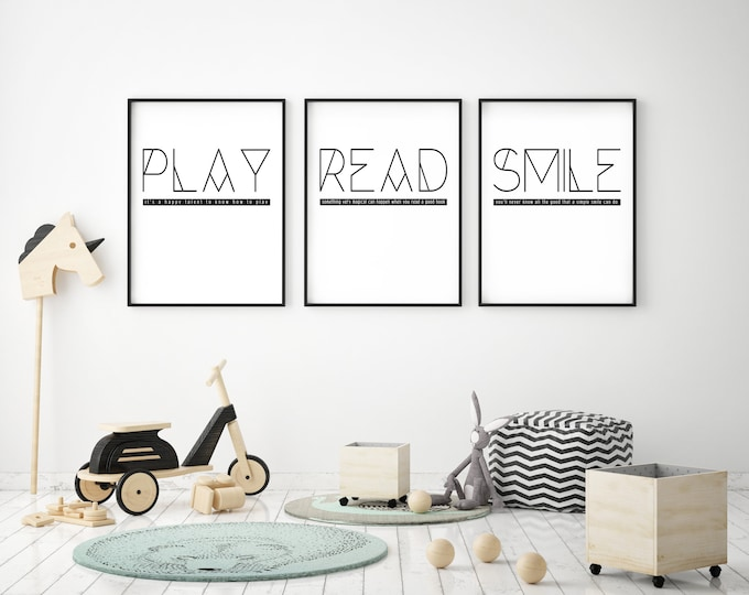 READ- Modern Home Decor Print- Black and White