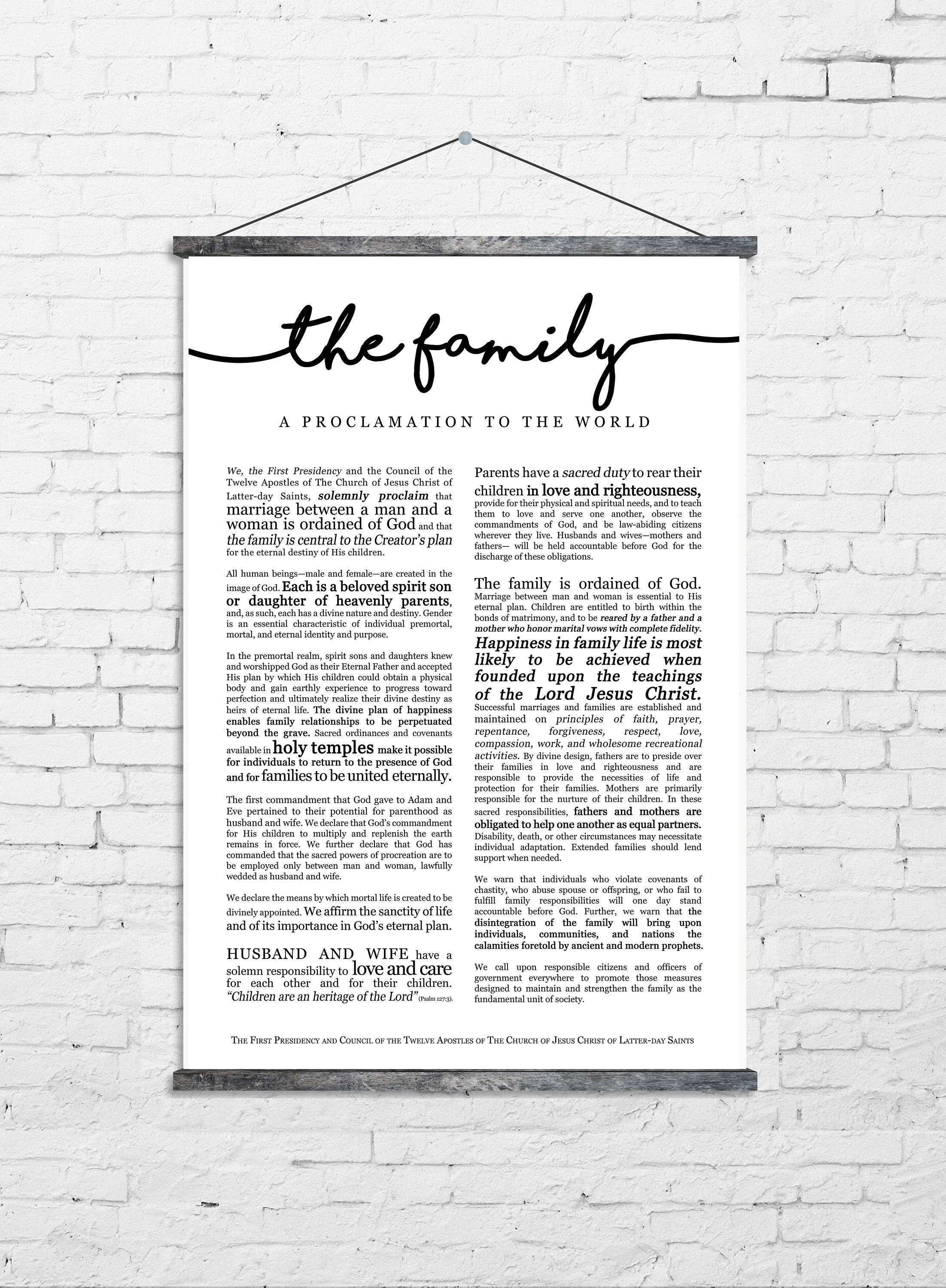 picture regarding Family Proclamation Printable referred to as Household Proclamation Print- upon High quality Paper- LDS
