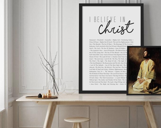 I Believe In Christ- Christian Home Decor Print