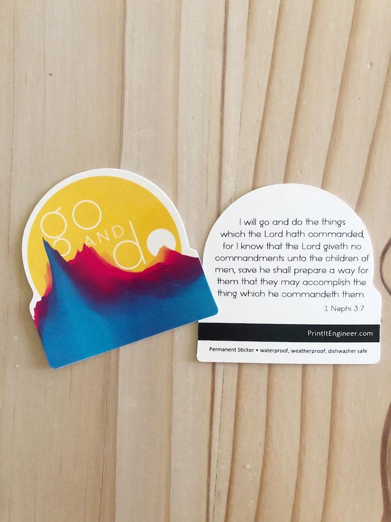 1 Nephi 3:7 LDS Mutual Theme Go and Do Sticker Vinyl Sticker