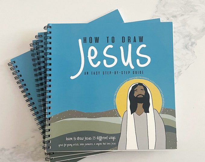 How To Draw Jesus- Drawing Book, Art Guide. Spiral 8x8