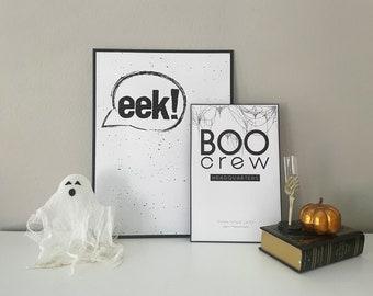 EEK- Simple Halloween Decor, Premium Print