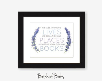 Read a Thousand Books printable digital art print