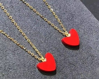 Genuine 18K gold solid necklace chain choker jewelry necklace set 75/% of gold stamped Au750 18K gold pendant with artificia coral