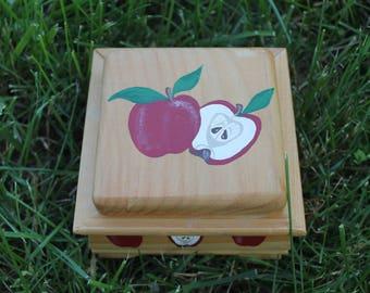 Apple Painted Box