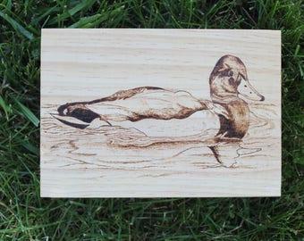 Duck Wood Burned Box