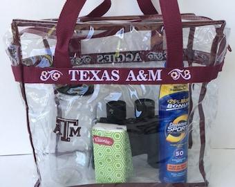 Texas A&M Maroon Clear Stadium Bag Tote Purse