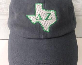 Delta Zeta Texas stone washed embroidered cap