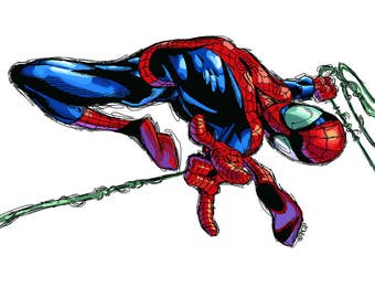 Spider-Man Photoshop Sketch