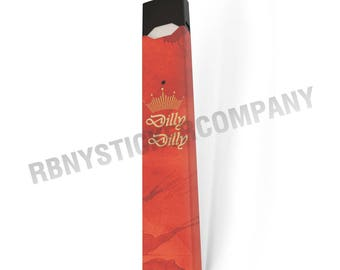 DILLY DILLY Red Gold Crown JUUL Skin Decal Wrap