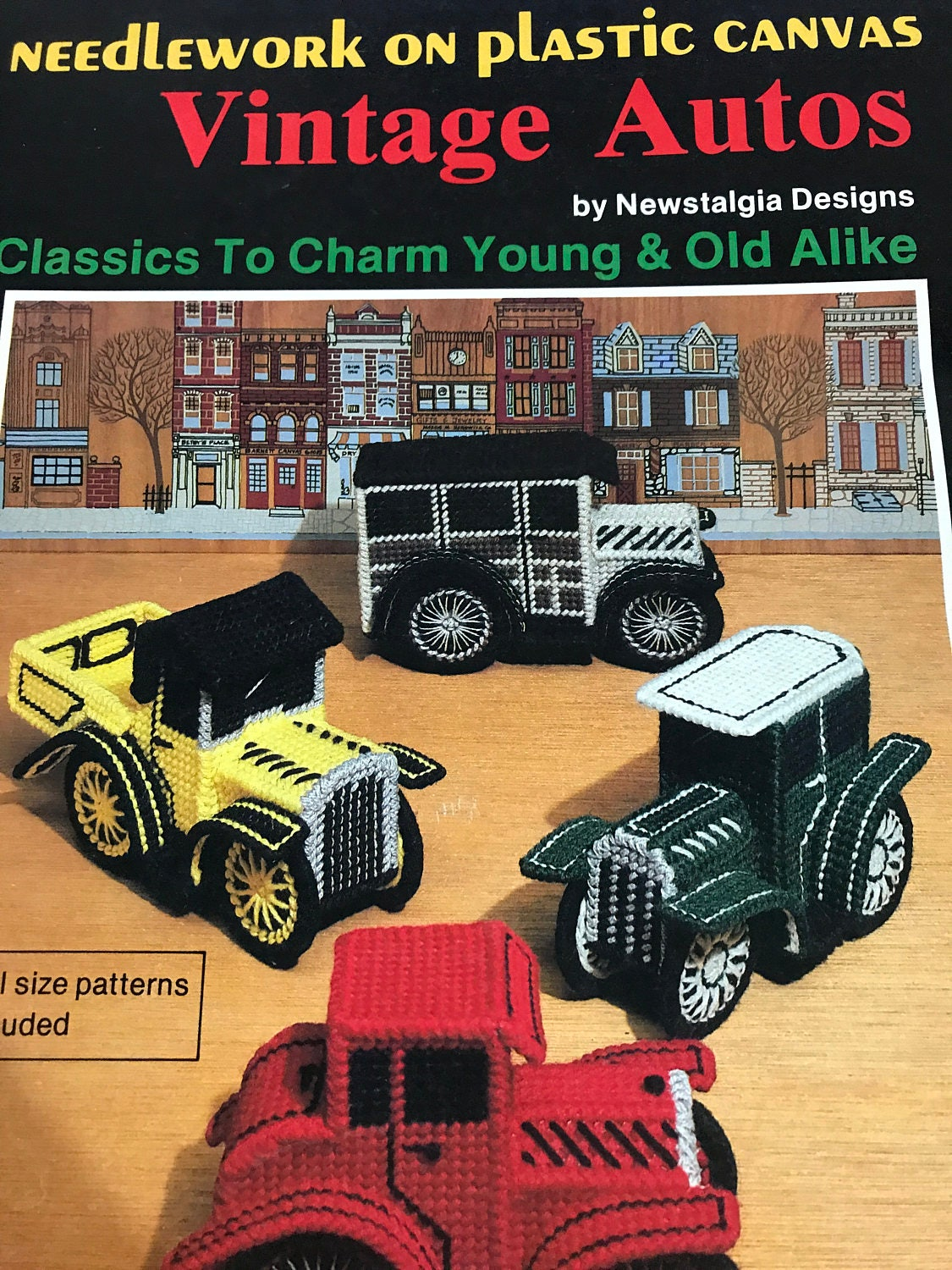 Vintage Needlework in Plastic Canvas Vintage Autos Pattern book from ...