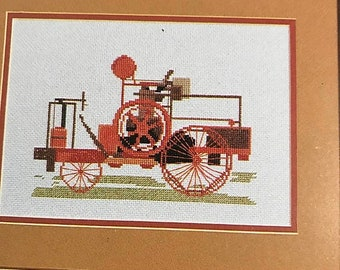SUMMERSALE Vintage Antique Tractor counted cross stitch design booklet