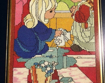 SUMMERSALE Gloria & Pat, Precious Moments, Window Series, Blessed Are the Poor in Spirit, PMW-1, Vintage 1992, Counted Cross Stitch Pattern