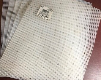 SUMMERSALE Darice, Perforated Plastic, Clear Mesh, 7 Count, 10.5 by 13.5 inch, 5 pack