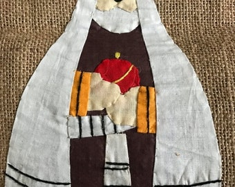 SUMMERSALE Handstitched stocking on Burlap