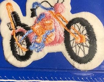 SUMMERSALE Vintage Patch-It Pink Chopper Bike Patch