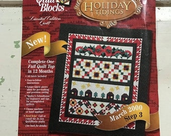 SUMMERSALE Holiday Tidings Quilt Blocks kit March 2000 by Jo-Ann fabrics