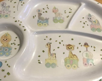 SUMMERSALE Precious Moments Birthday Child's Plate 1987