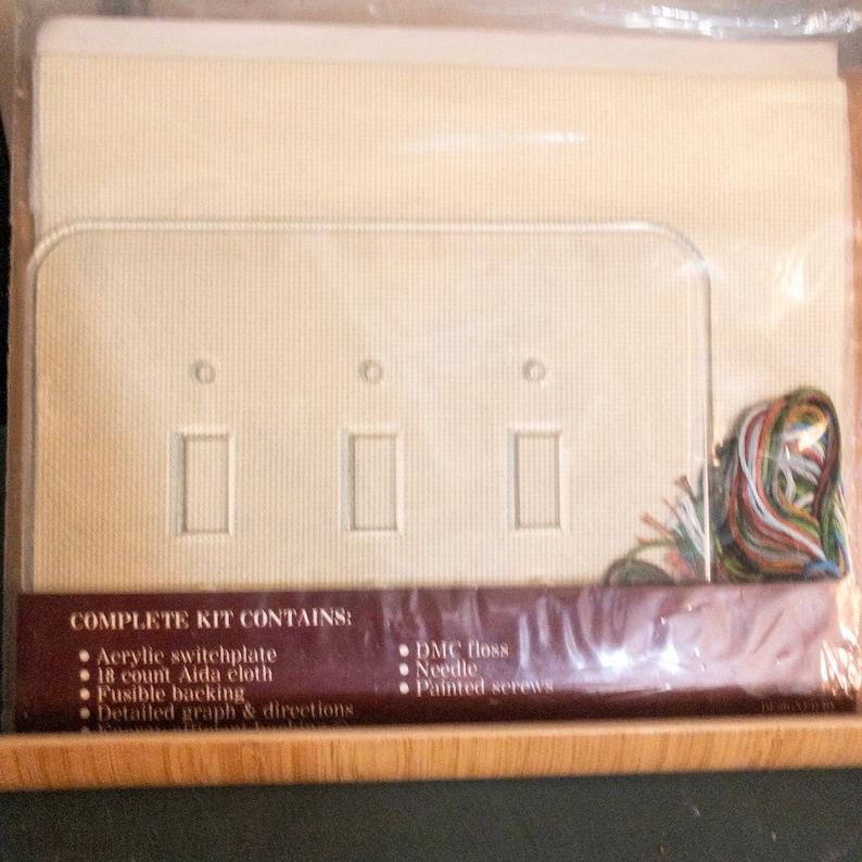 Fond Memories Acrylic Switch Plate Cross Stitch Kit* Triple Ducks