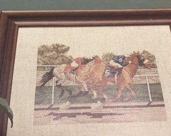 SUMMERSALE Barrett House counted cross stitch High Jump , Steeplechase, Home Stretch pattern book