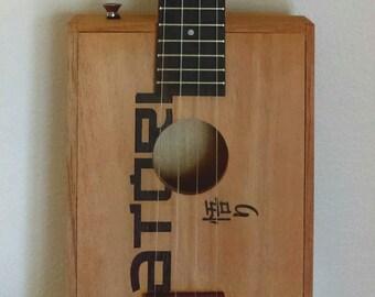 Custom made CBG very rare Satori cigar box tenor ukulele vintage