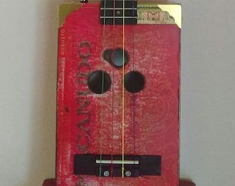 Custom made CBG Macanudo cigar box tenor ukulele vintage relic