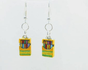 Crayon box earrings