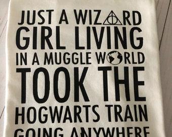 Harry Potter shirt/Wizard  girl