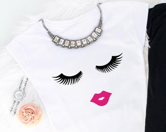 5dfca3eb683 Eyelash and Lips T-Shirt