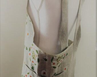 Women's Linen Apron Crossback
