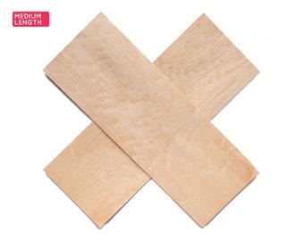 Birdseye maple wood veneer sheets, 38x14cm, 2 sheets, grade A [CS2BEM5X2] / wood veneer leaf / wood veneer sample / marquetry veneer