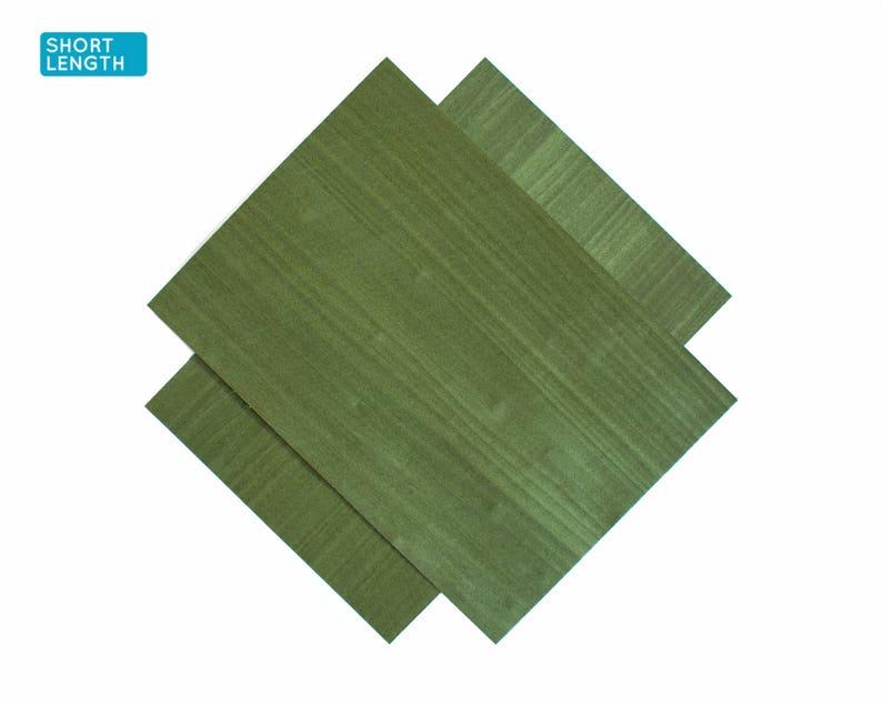 Green poplar (dyed) wood veneer sheets, 30x21cm, 2 sheets, grade AA  [DN1GRE1X2] / wood veneer leaf / wood veneer sample / marquetry veneer
