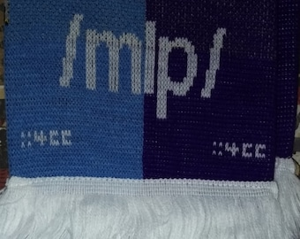 Flawed(!) scarf 'Giddy Up!' - Original 2013 Design