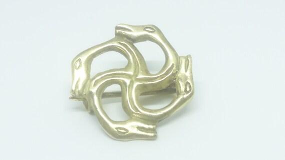 Swastika Brooch Serpent Brooch Handmade Brass Gift Viking Jewelry Historical Pin Snake Brooch Classic Ancient Style Snake Brooch