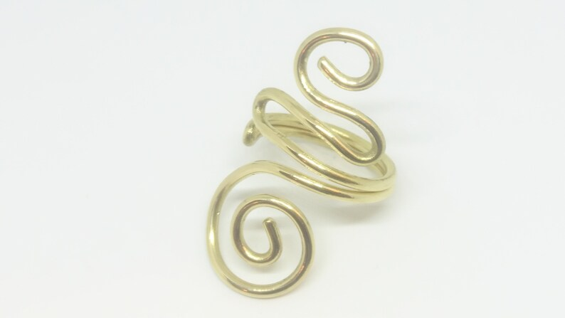Wire Wrapped Ring Handmade Jewelry Wire Wrapped Jewelry Brass Ring Wire Ring